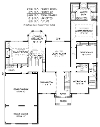 colonial style house plan 4 beds 4 50 baths 3202 sq ft plan 424 7