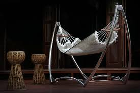 unity luxury single hammock stand made with marine grade materials