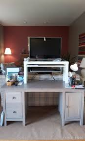 25 standing desk hack from lack tv unit summera ikea hackers