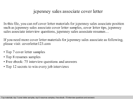 Retail Associate Resume Sample by Jcpenney Sales Associate Cover Letter