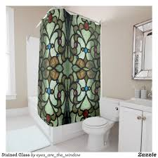 Shower Curtains For Glass Showers Stained Glass Shower Curtain Bath Shower Curtains Pinterest
