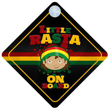 amazon com little rasta on board car sign new baby child gift