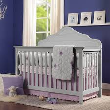 Side Rails For Convertible Crib by Davinci Flora 4 In 1 Convertible Crib With Toddler Rail In Fog