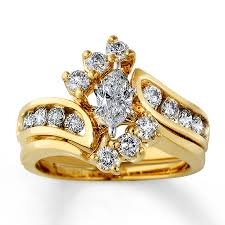 yellow gold bridal sets diamond bridal set 1 1 2 ct tw marquise cut 14k yellow gold