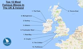 Map Of England And Ireland by Surf Blog The Top 10 Most Famous Waves In The Uk And Ireland