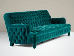 Teal Tufted Sofa by A Green Velvet Upholstered Sofa By Jacques Grange Circa 1994 1996