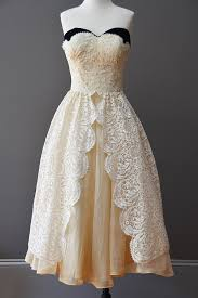 1950 u0027s cream lace vintage dress vintagevirtuosa