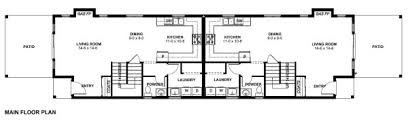 duplex floor plans for narrow lots narrow lot duplex house plan hunters
