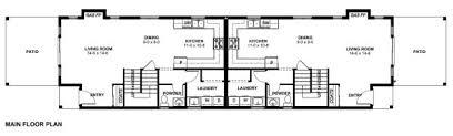 duplex floor plans for narrow lots narrow lot duplex house plan hunters