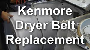 how to replace the belt on a kenmore 90 series dryer youtube