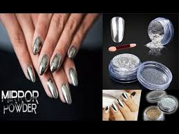 silver nail art designs 2017 mirror powder step by step nail