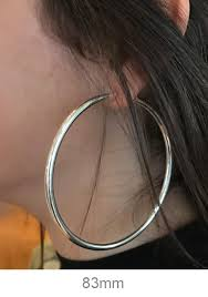 earrings for thick earlobes sterling silver thick endless continuous hoop earrings all sizes