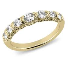 wedding bands for with diamonds 14k yellow gold wedding band 56 ct