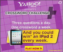 Challenge Yahoo Yahoo India Crossword Challenge Contest Free Offers India