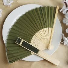 raffia fans wholesale silk folding wedding party favor fans table top