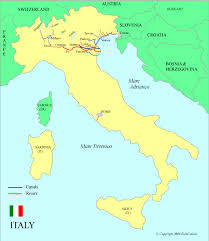 map of italy images italy waterways map