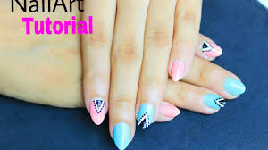 triangle nail art tutorial how to make easy nail polish design