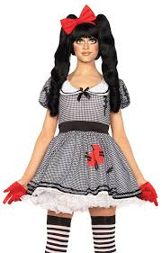 Creepy Doll Costume Wind Me Up Dolly Creepy Doll Costume From Leg Avenue Inset 1