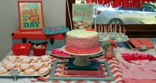 coral baby shower coral and turquoise baby shower pretty my party