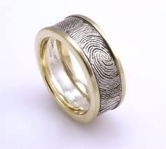 fingerprint wedding band best 25 fingerprint wedding bands ideas on