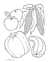 best solutions of thanksgiving foods coloring pages printables