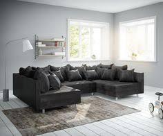 design wohnlandschaften ecksofa phlox 250x180 cm schwarz mit schlaffunktion wohnung