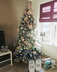 snow artificial christmas tree deluxe frosted pine natural