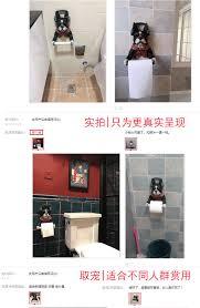 dog toilet paper holder supply paper towel rack creative kitchen dog hanging toilet toilet