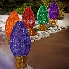 large outdoor christmas lights 5 pc giant outdoor c9 multicolor path lights sam s club