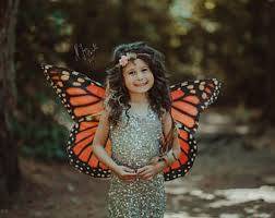 Monarch Butterfly Halloween Costume Polyphemus Moth Fairy Wings Moth Costume Handmade Halloween