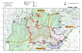 Fire Map Oregon by Grizzly Bear Complex Update August 21 Fire Grows Less Than Aug