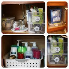 operation organizing the bathroom cabinets