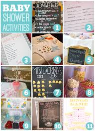 baby shower activity ideas baby shower activities catch my party