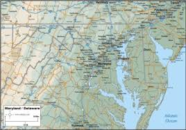 map of maryland to print map maryland delaware map to print