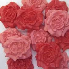 Christmas Cake Decorations On Ebay by Details About 12 Red Pearl Sugar Roses Edible Ruby Wedding