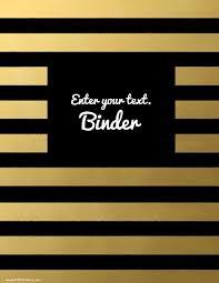 create your own planner template free binder cover templates black and gold stripes
