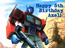 optimus prime pinata happy things axel turns 5