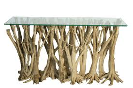 orange tree root console table hawley design furnishings