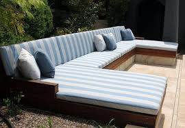 custom outdoor daybed setting the foam booth