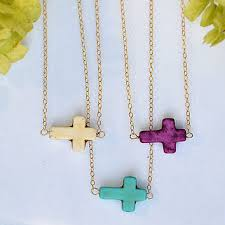 cross necklace pink images Best sideways cross necklace kelly ripa products on wanelo jpg