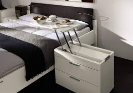 breakfast in bed table pop up bedside table lets you have breakfast in bed any day