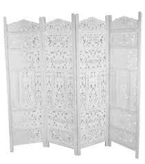 carved wood room divider white room divider entwine white colour room divider screen 3