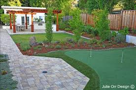Putting Green In Backyard by Personal Putting Green In Menlo Park Julie Orr Design