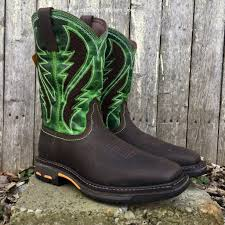 ariat s boots canada ariat s brown green workhog venttek square toe work boots