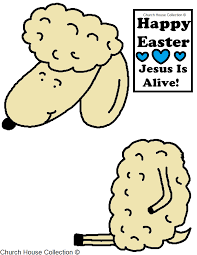 easter sheep jesus is alive cutout craft