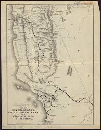 san francisco map california map of san francisco san joaquin valley ry and atchison lines