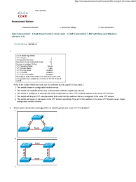 ccna 3 practice final answered 100 network switch wireless lan