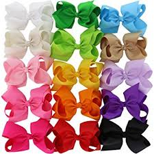 boutique bows chiffon 15 colors 6in large big grosgrain ribbon hair