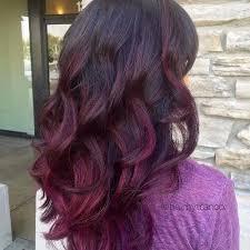 partial red highlights on dark brown hair 50 purple ombre hair ideas worth checking out hair motive hair