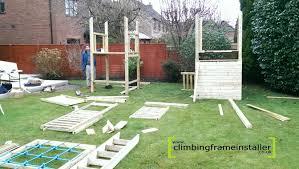 double tower play crazy climbing frame climbing frame installer